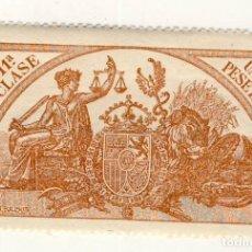 Sellos: SELLO FISCAL DE 1904- CLASE 11ª.- 1 PESETA.- CASTAÑO AMARILLO.-** (4). Lote 203976467