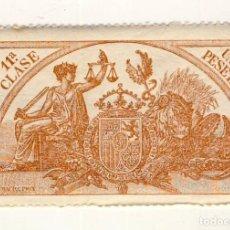 Sellos: SELLO FISCAL DE 1904- CLASE 11ª.- 1 PESETA.- CASTAÑO AMARILLO.-** (12). Lote 203983583