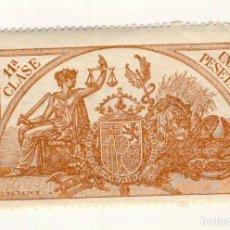 Sellos: SELLO FISCAL DE 1904- CLASE 11ª.- 1 PESETA.- CASTAÑO AMARILLO.-** (15). Lote 203986131