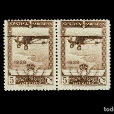 Sellos: ESPAÑA - 1929 - ALFONSO XIII - EDIFIL 448 - MNH** - NUEVO - PAREJA - LUJO.. Lote 204168802