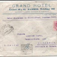 Sellos: ESPAÑA.AÑO 1924.CARTA CIRCULADA.. Lote 204426955