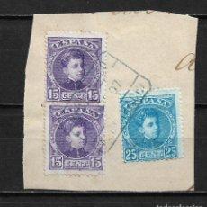 Timbres: ESPAÑA 1901 EDIFIL 246 Y 248 TERUEL ALBARRACIN - 15/50. Lote 204438956