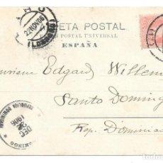Sellos: ERROR EN LA DISTRIBUCION. EDIFIL 243. DE LA CORUÑA A REPUBLICA DOMINICANA. 1906. Lote 204508156