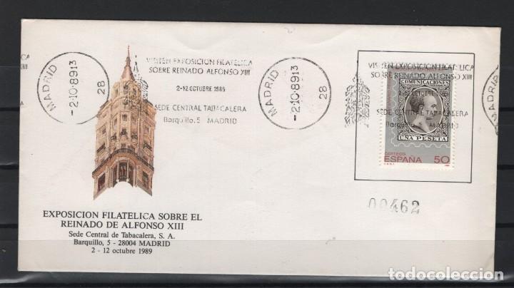 CAJA_P5/ CARTA CON MATASELLOS CONMEMORATVOS REINADO ALFONSO XIII DE 1989 (Sellos - España - Alfonso XIII de 1.886 a 1.931 - Cartas)