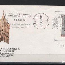 Sellos: CAJA_P5/ CARTA CON MATASELLOS CONMEMORATVOS REINADO ALFONSO XIII DE 1989. Lote 204675336