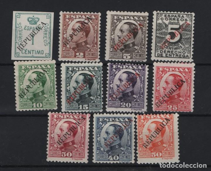 R75/ ESPAÑA, ALFONSO XIII, REPUBLICA ESPAÑOLA, MH* (Sellos - España - Alfonso XIII de 1.886 a 1.931 - Nuevos)