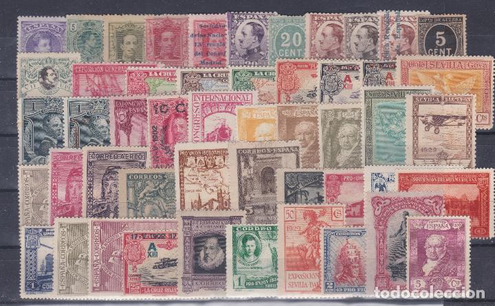 ESPAÑA.- LOTE DE 50 SELLOS NUEVOS SIN CHARNELA DEL REINADO DE ALFONSO XIII (Sellos - España - Alfonso XIII de 1.886 a 1.931 - Nuevos)