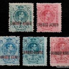 Sellos: ESPAÑA 1920 ED 292/96** SERIE ALFONSO XIII TIPO MEDALLON NUEVOS MNH**(165€) !!!!. Lote 205071990