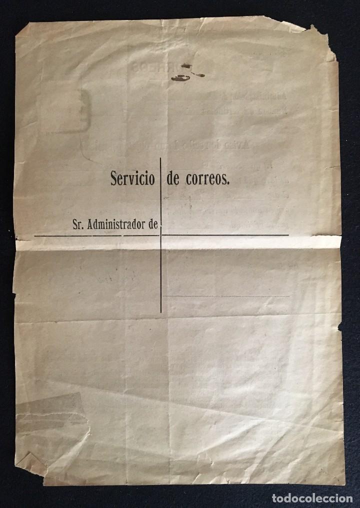 Sellos: Aviso de Certificado de un envío de Lérida entregado en Barcelona. 17 de noviembre 1899, Completo. - Foto 3 - 205293302