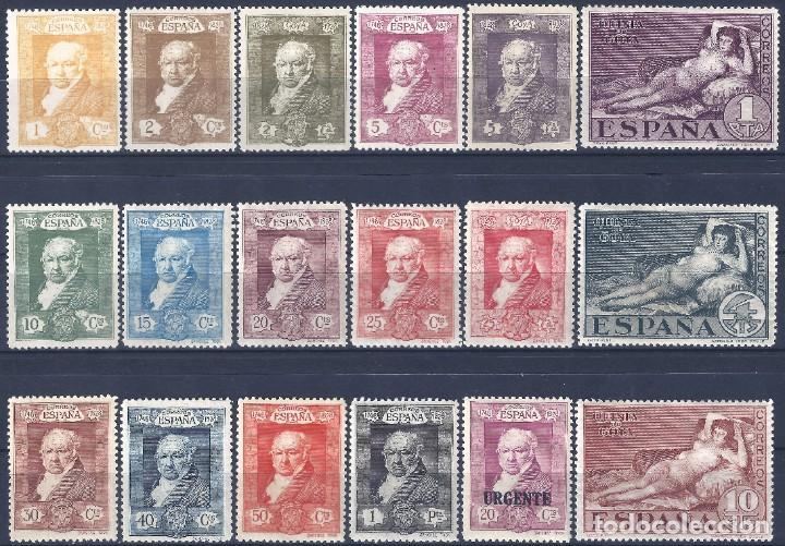EDIFIL 499-516 QUINTA DE GOYA 1930 (SERIE COMPLETA). VALOR CATÁLOGO: 95 €. LUJO. MLH. (Sellos - España - Alfonso XIII de 1.886 a 1.931 - Nuevos)