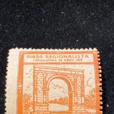 Sellos: VIÑETA DIADA REGIONALISTA TARRAGONA 1913. Lote 205592903