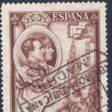 Sellos: EDIFIL 580 PRO UNIÓN IBEROAMERICANA 1930. MATASELLOS CONMEMORATIVO EMISIÓN 10-OCTUBRE-1930. LUJO.. Lote 205648188