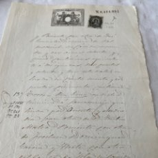 Sellos: DOCUMENTO TIMBRADO SELLO SOCIEDAD DEL TIMBRE, SELLO DE VALLADOLID. Lote 205665796