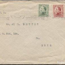 Sellos: 1930 A ESTADOS UNIDOS CON SELLOS DE 10 Y 25 CTMS DE ALFONSO XIII. Lote 205843028