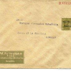 Sellos: SOBRE ENTERO POSTAL M ATERMAN ALFONSO XIII SOBRECARGADO REPUBLICA. Lote 206134121