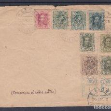 Sellos: CARTA DE BAYONA CON FRANQUEO ALFONSO XIII DOS EMISIONES. Lote 206138527