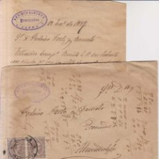 Sellos: AÑO 1889 EDIFIL 219 SOBRE+CARTA MATASELLOS ZAFRA MEMBRETE ENRIQUE SANCHEZ. Lote 206155180