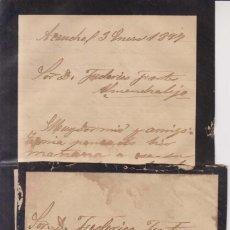 Sellos: AÑO 1889 EDIFIL 219 SOBRE+CARTA DE ACENDRAL MATASELLOS ALMANDRALEJO LEOBANDAS SANCHEZ. Lote 206155876