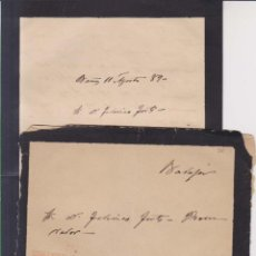 Sellos: AÑO 1882 EDIFIL 210 SOBRE+CARTA DE BAÑOS A ALMANDRALEJO JUAN MUÑOZ. Lote 206157387
