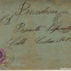 Sellos: AÑO 1909 EDIFIL 270 SOBRE MATASELLOSVILLAFRANCA DEL PANADES A BARCELONA. Lote 206263082