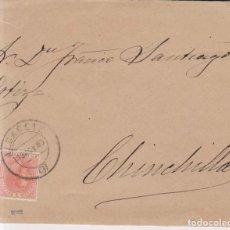 Sellos: AÑO 1882 EDIFIL 210 SOBRE MATASELLOS ALBACETE A CHINCHILLA. Lote 206263458