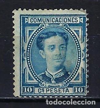 1876 ESPAÑA EDIFIL 175 ALFONSO XII MNG* NUEVO SIN GOMA SIN FIJASELLOS (Sellos - España - Alfonso XIII de 1.886 a 1.931 - Nuevos)