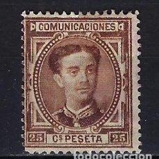 Sellos: 1876 ESPAÑA EDIFIL 177 ALFONSO XII MG* NUEVO SIN GOMA CON FIJASELLOS. Lote 206268916