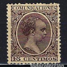 Sellos: 1889-1899 ESPAÑA EDIFIL 219 ALFONSO XIII 'TIPO PELÓN' USADO. Lote 206276146