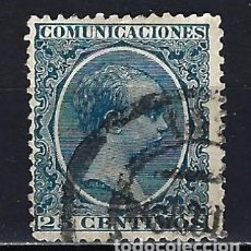 Sellos: 1889-1899 ESPAÑA EDIFIL 221 ALFONSO XIII 'TIPO PELÓN' USADO. Lote 206276431