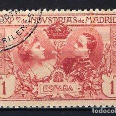 Sellos: 1907 ESPAÑA EDIFIL SR5 EXPOSICIÓN DE INDUSTRIAS MADRID - USADO DENTADO 11 1/2. Lote 206278202