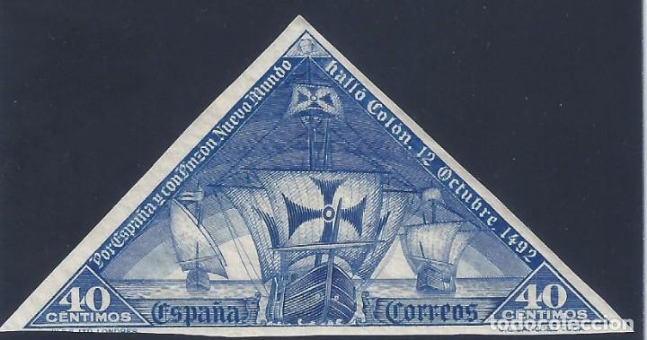 EDIFIL 541S DESCUBRIMIENTO DE AMÉRICA 1930. SIN DENTAR. ESCASO. VALOR CATÁLOGO: 29 €. MH * (Sellos - España - Alfonso XIII de 1.886 a 1.931 - Nuevos)