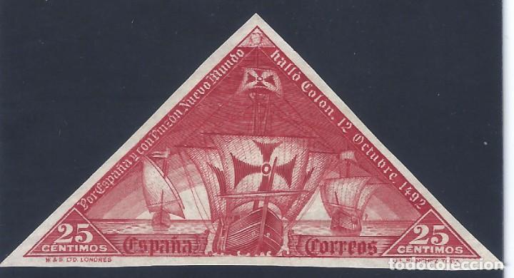 EDIFIL 539S DESCUBRIMIENTO DE AMÉRICA 1930. SIN DENTAR. ESCASO. VALOR CATÁLOGO: 13 €. MH * (Sellos - España - Alfonso XIII de 1.886 a 1.931 - Nuevos)