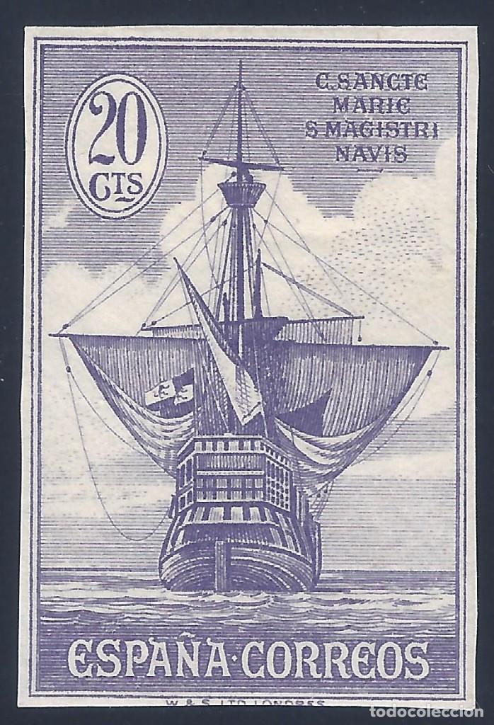 EDIFIL 538S DESCUBRIMIENTO DE AMÉRICA 1930. SIN DENTAR. ESCASO. VALOR CATÁLOGO: 29 €. MH * (Sellos - España - Alfonso XIII de 1.886 a 1.931 - Nuevos)