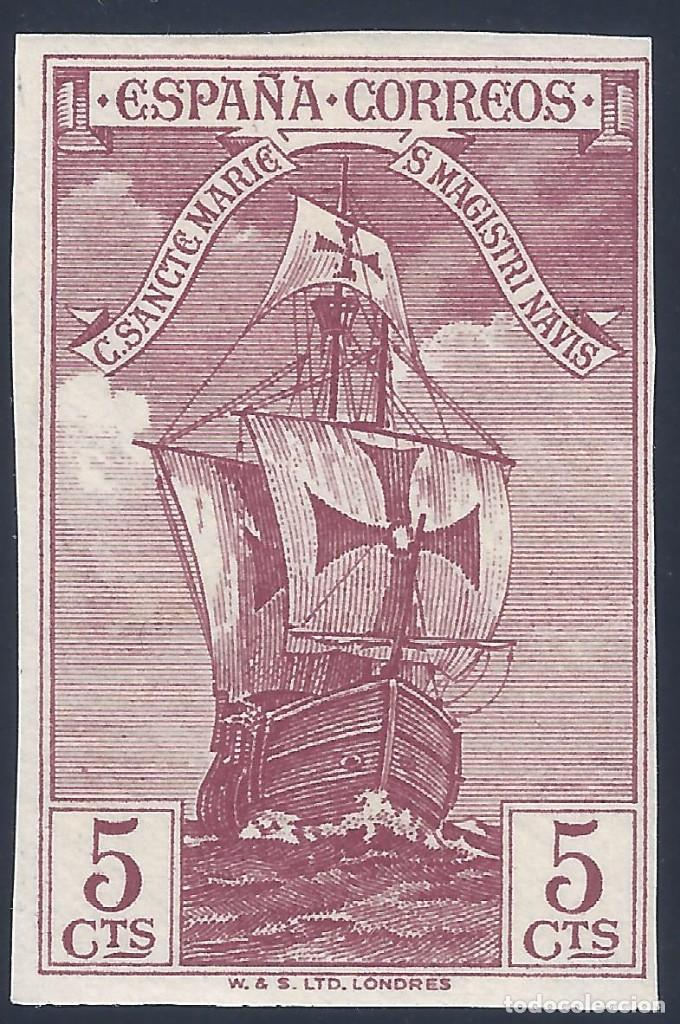 EDIFIL 533S DESCUBRIMIENTO DE AMÉRICA 1930. SIN DENTAR. ESCASO. VALOR CATÁLOGO: 29 €. MH * (Sellos - España - Alfonso XIII de 1.886 a 1.931 - Nuevos)
