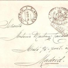 Sellos: CARTA DE 1928 CON FRANQUICIA DE LA ADMINISTRACIÓN DE CORREOS DE SANTIAGO DE COMPOSTELA.. Lote 206764660