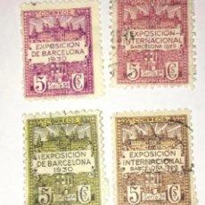 Sellos: SELLOS EXPOSICIÓN INTERNACIONAL DE BARCELONA (1929) (1930). SERIE 5ª, 2ª, 3ª Y 6ª.. Lote 206777645