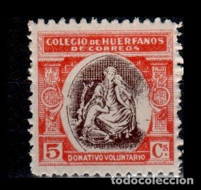 0149 ESPAÑA- BENEFICENCIA - HUERFANOS DE CORREOS EDIFIL B-1 NUEVO CON LIGERA SEÑAL DE FIJASELLOS VE (Sellos - España - Alfonso XIII de 1.886 a 1.931 - Nuevos)