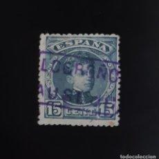 Sellos: ALFONSO XIII, 15 CÉNTIMOS (EDIFIL 244). CARTERÍA DE AUSEJO, LOGROÑO (LA RIOJA).. Lote 207005271