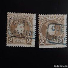 Sellos: ALFONSO XIII, 2 CÉNTIMOS (EDIFIL 241). CARTERÍA CARACENILLA, CUENCA (CASTILLA LA MANCHA). 2 SELLOS.. Lote 207006008