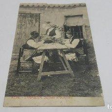 """Sellos: POSTAL ZARAGOZA """"JUGANDO AL GUIÑOTE"""" A CALLE MONTERA, MADRID MANUSCRITA 1917 CON SELLO 10 CNTS. Lote 207007181"""