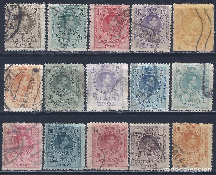 EDIFIL 267-280 ALFONSO XIII. TIPO MEDALLÓN. 1909-1922 (SERIE COMPLETA). INCLUYE VARIEDAD 271. LUJO. (Sellos - España - Alfonso XIII de 1.886 a 1.931 - Usados)