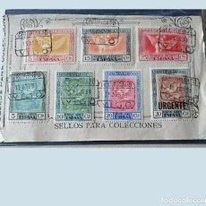 Sellos: ESPAÑA 1930. 7 SELLOS QUINTA DE GOYA EXPOSICIÓN SEVILLA. IMPORTANTE PIEZA. LEER DESCRIPCIÓN.. Lote 208958676