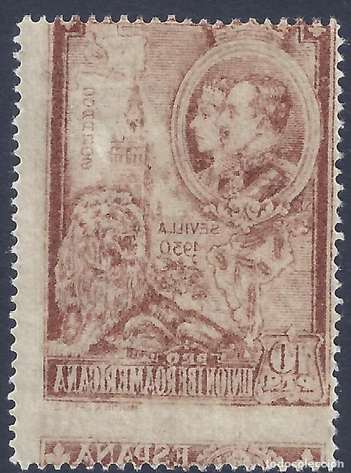 EDIFIL 581 PRO UNIÓN IBEROAMERICANA 1930 (VARIEDAD..IMPRESIÓN ANVERSO Y REVERSO). GRAN LUJO. MLH. (Sellos - España - Alfonso XIII de 1.886 a 1.931 - Nuevos)