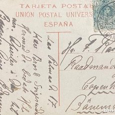 Sellos: ESPAÑA, TARJETA POSTAL CIRCULADA EN EL AÑO 1916. Lote 210278740