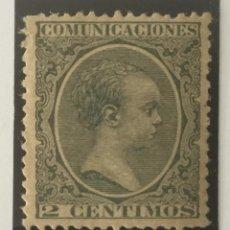 Sellos: 1889-ESPAÑA ALFONSO XIII PELÓN EDIFIL 213 MNH** 2 CÉNTIMOS VERDE - NUEVO SIN CHARNELA -. Lote 210384585