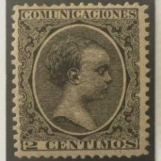 Sellos: 1889-ESPAÑA ALFONSO XIII PELÓN EDIFIL 214 MNH** 2 CÉNTIMOS NEGRO - NUEVO SIN CHARNELA -. Lote 210385255