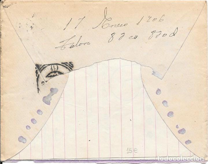 Sellos: EDIFIL 243. CADETE. SOBRE CIRCULADO DE ESPEJA A MADRID. 1906 - Foto 2 - 210411166