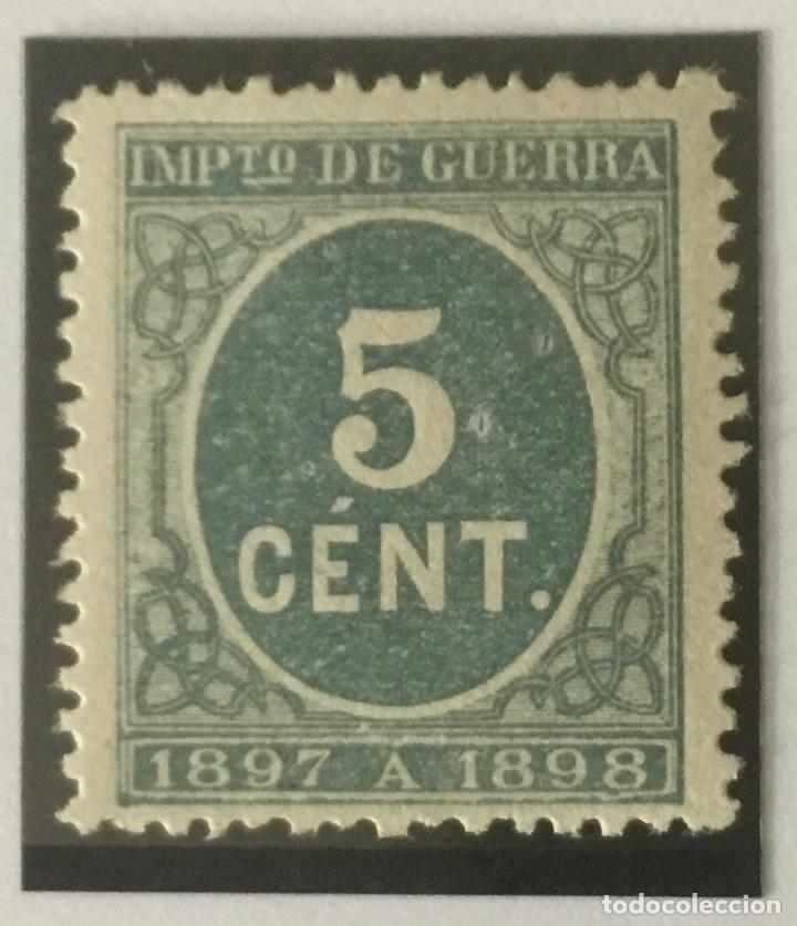 1897-ESPAÑA CIFRAS EDIFIL 232 (*) 5 CÉNTIMOS VERDE - NUEVO - (Sellos - España - Alfonso XIII de 1.886 a 1.931 - Nuevos)
