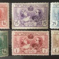 Sellos: 1907-ESPAÑA EXP. INDUSTRIAS MADRID EDIFIL SR1/6 MH* SERIE COMPLETA - NUEVO CON CHARNELA-. Lote 210456417