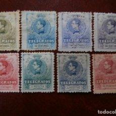 Sellos: PRIMER CENTENARIO - TELEGRAFOS - 1912 - SERIE COMPLETA ALFONSO XIII - EDIFIL 47/54.. Lote 210576943